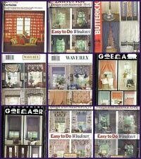 OOP Butterick Sewing Pattern Home Déco Window Treatment Decorating  Your Choice