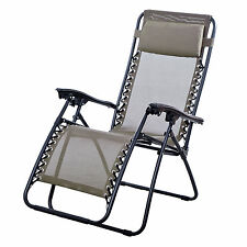 Outdoor Lounge Chair Zero Gravity Folding Recliner Patio Pool Lounger 5 colors