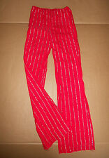 NEW SILVER STRIPED JAZZ PANTS RED DANCE COSTUME THEATRICAL GLITTER STRIPE CHILD