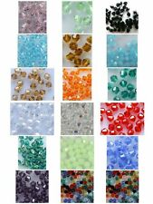 YOU PICK COLOR & QUANTITY Sparkling 4mm Bicone crystal beads FROM 17 colors