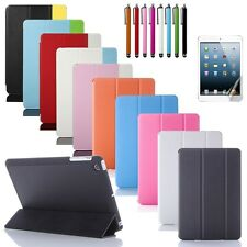 For New iPad Mini Magnetic PU Leather Folio Stand Case Cover Sleep Wake Stylus