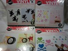 Hip In A Hurry Removeable PRESS APPLY Vinyl DECOR for KIDS ROOM: YOU PICK STYLE