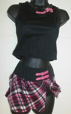 NWT SCHOOLGIRL HIPHOP JAZZ COSTUME SKIRT W/trunks and socks child size Small 4-6
