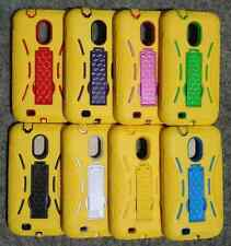 Samsung Galaxy S2 II SCH-R760 Phone Cover ARMOR Case With KICK Stand YELO