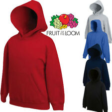 Kids Fruit Of The Loom Hooded Sweat Hoodies Childrens New Superb