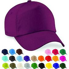 Baseball Cap Adjustable Classic Cotton Summer Sun 5 Panel Mens Ladies Hat