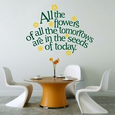 All The Flowers - Wall Decal Sticker quote kitchen lounge living room bedroom