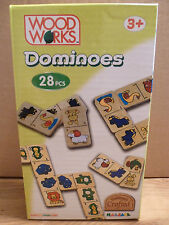 Farm Animal CHILDRENS DOMINOS GAME Wooden 28 Piece Boxed Educational Play Set