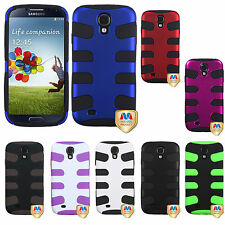 For Samsung Galaxy S4 S IV Hybrid FISHBONE Dual Layer Phone Case Cover Accessory