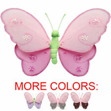 Butterfly Decor Nylon Hanging Wall Ceiling Baby Nursery Room Decoration Girls