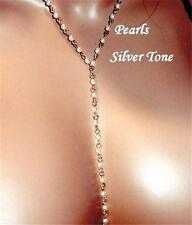 Long lariat Bride Bridal Party  Stunning lariat Necklace Pearls Made in the USA
