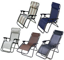 Zero Gravity Lounge Chairs Recliner Outdoor Beach Patio Garden Folding Chair New