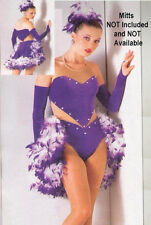 AMETHYST Showgirl Saloon Jazz Tap Dance Boa Costume Halloween GROUPS! CM-AXL