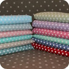 Polka Dot Fabric FAT QUARTER 4mm Spots 100% Cotton Spotty Shabby Chic Quilting.