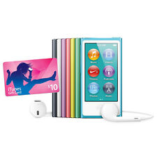 Apple iPod nano 16GB - 7th Generation - ALL COLORS + Apple $10 iTunes Gift Card