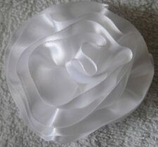 """LOOK! 3"""" High Quality Satin Ribbon Flower Cabbage Rose Flowers - COLOR CHOICE"""