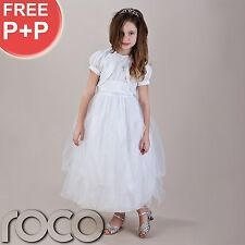 Girls White Communion Dresses, Flower Girl Dresses, Bridesmaid Dresses, Prom