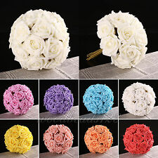 10-100 Rose Flowers Head Latex Real Touch Artificial For Diy Bouquets Bridal