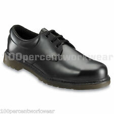Contractor 160 Work Safety Black Smooth Leather Shoes Steel Toe Mens Air Sole