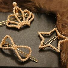 Crown stars bowknot pearl inlaid molding more hair clips bobby pin
