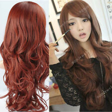 "22"" Women Wavy Curly Long Clip in Human Hair Extension Full Head Synthetic Gift"