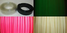 "3/4"" ID PVC Heat Shrink Tubing, Clear, Black, Glow in the Dark, Pink, +more"