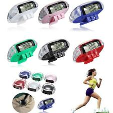 LCD Digital Pedometer Walking Step Run Distance Calorie Counter Fit Belt Clip