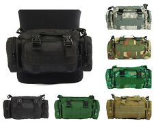 Tactical Molle Waist Pack Pouch Military Camping Hiking Shoulder Hand Bag 6Color