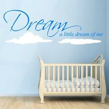 Dream A Little Dream Of Me - Wall Decal Quote Sticker lounge bedroom nursery