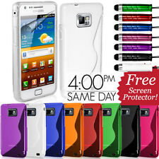 GRIP S-LINE SILICONE GEL CASE FITS SAMSUNG GALAXY S2 i9100 FREE SCREEN PROTECTOR