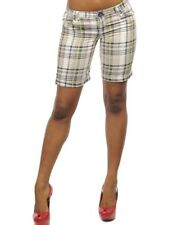 Plaid Bermuda Shorts Ivory/Green New