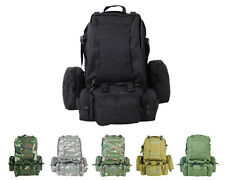 Airsoft Molle Tactical Large Assault Backpack Bag Pouch 6 Colors Black/Tan/OD A
