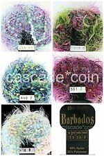 Craft Nylon Blend Ribbon Eyelash Yarn 2 Skeins Italy Barbados Karabella 5 Colors