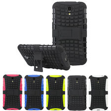 Dual Layer Rugged Hybrid Grip Hard Stand Cover Case For Samsung Galaxy Mega 6.3