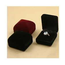 Luxury Velvet Ring Boxes Wholesale Heart or Diamond Shaped