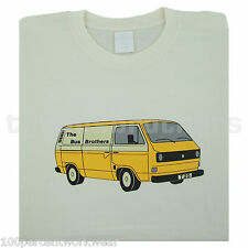 Bus Brothers T25 T3 Panel Van Kastenwagen Transporter Mens T Shirt VW Volkswagen