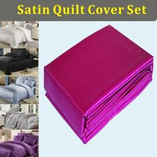 120gsm Satin Silky Quilt/Doona/Duvet Cover & Pillowcase (no sheet) SB/DB/QB/KB