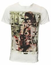 Mens Firetrap Freeads Graphic Printed White T-Shirt, Sizes S M L XL