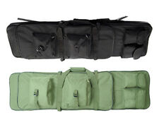 Airsoft Tactical Dual AEG Rifle Carrying Case Bag Backpack 100CM 2 Colors BK/OD