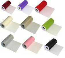 "TUTU TULLE FINESSE FABRIC RIBBON ROLL WEDDING PARTY BIRTHDAY WRAPPING 6"" x 25YDS"