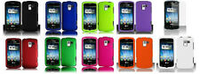 Screen Guard + Faceplate Hard Cover Phone Case for LG Optimus Q L55C Zip L75C