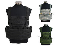 Airsoft Molle Tactical Military Vest w/ Hydration Pocket Magazine Pouch 3 Colors