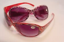 """Marilyn"" Bifocal Faux Rhinestone Sun Readers Reading Glasses 1.75 R436BS"