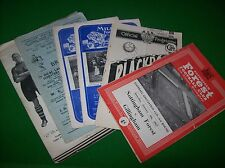 Assorted FA Cup Programmes 1955 1957 Nottm Forest Luton Chester Millwall