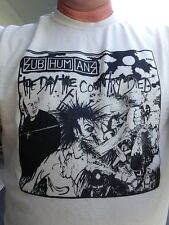 Subhumans Punk Shirt S M L XL Choose Size/Color All Variations