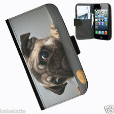 Dog i phone 4 4s protective leather side wallet case cover for apple iphone 4 4s