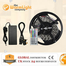 Indoor 12V 5M 500CM Warm/White/RGB LED Strip Lights Double Sided Sticky Tape Kit