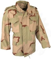 Military Issue M-65 Desert Camouflage Field Jacket w/ FREE Liner - Army Surplus