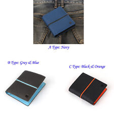 New Mens Wallet KOREA -281 Colorful Fashion Leather Bifold Holder Purse So Hot