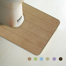 "Memory Foam Bathroom Toilet Mat Rug 20"" x 24"" In Many Colors Soft Touch Durable"